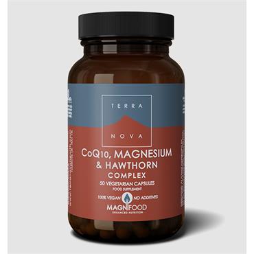 Terranova CoQ10 Magnesium & Hawthorn Complex 100 Capsules