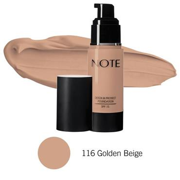 Note Detox & Protect Foundation 106 Soft Henna