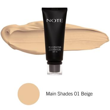 Note Rejuvenating Foundation 01 Beige