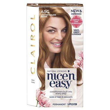 Clairol Nice ' N Easy Permanent Hair Dye - 6.5G Lightest Golden Brown