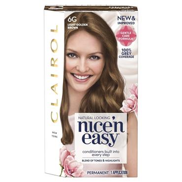 Clairol Nice ' N Easy Permanent Hair Dye - 6G Light Golden Brown