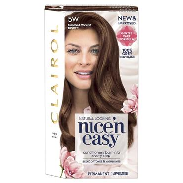 Clairol Nice ' N Easy Permanent Hair Dye - 5W Medium Mocha Brown
