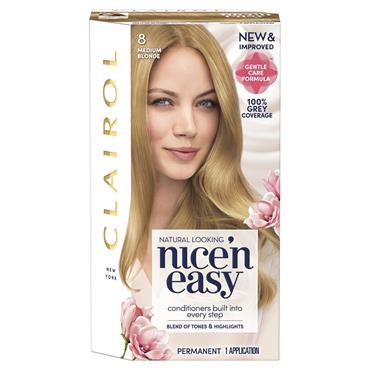 Clairol Nice ' N Easy Permanent Hair Dye - 8 Medium Blonde