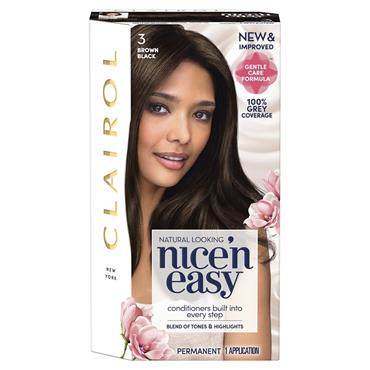 Clairol Nice ' N Easy Permanent Hair Dye - 3 Brown Black