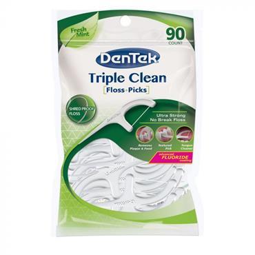 DENTEK TRIPLE CLEAN FLOSS PICKS