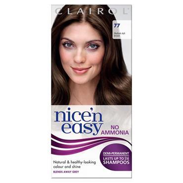 Clairol Nice N Easy Demi-Permanent Up To 24 Shampoos - 77 Medium Ash Brown