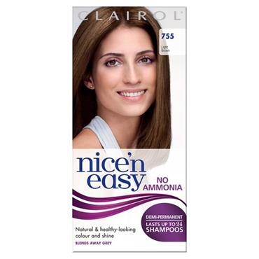 Clairol Nice N Easy Demi-Permanent Up To 24 Shampoos - 755 Light Brown