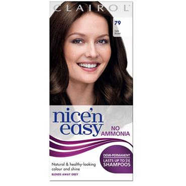 Clairol Nice N Easy Demi-Permanent Up To 24 Shampoos - 79 Dark Brown