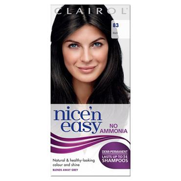 Clairol Nice N Easy Demi-Permanent Up To 24 Shampoos - 83 Black