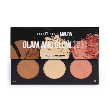Inglot x Maura Glam & Glow Trio Palette - Medium