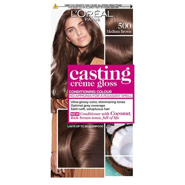 LOREAL CASTING CREME GLOSS - 500 MEDIUM BROWN