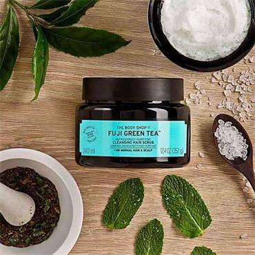 The Body Shop Fuji Green Tea Refreshingly Purifying Scrub Shampoo 240ml