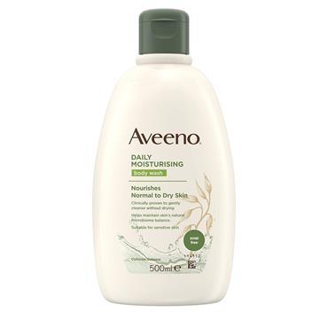 Aveeno Daily Moisturising Body Wash Nourishes Normal To Dry Skin 300ml