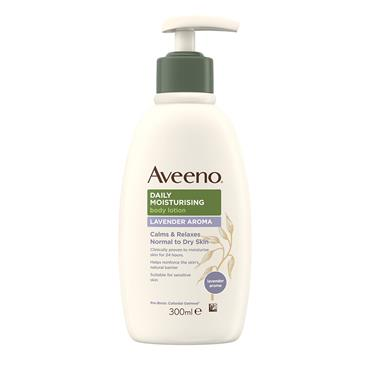 Aveeno Daily Moisturising Body Lotion Lavender Aroma Calms & Relaxes Normal To Dry Skin 300ml