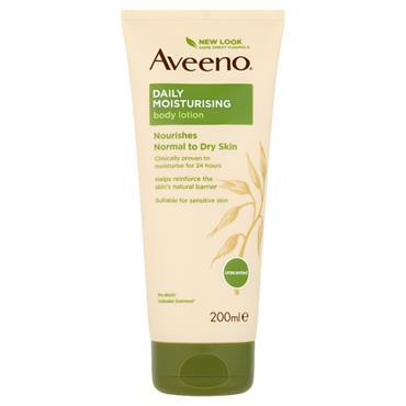 Aveeno Daily Moisturising Body Lotion Nourishes Normal To Dry Skin 200ml