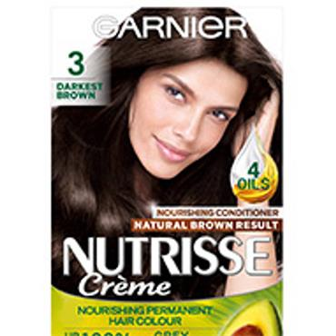 GARNIER NUTRISSE CREME - 3 DARKEST BROWN