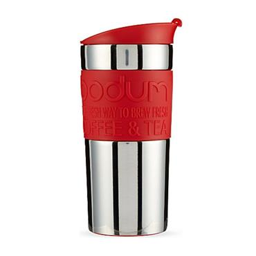 BODUM BODUM RED TRAVEL MUG VACUUM 12OZ