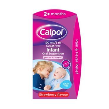 CALPOL CALPOL INFANT PARACETAMOL SUSPENSION SYRINGE 60ML 730862