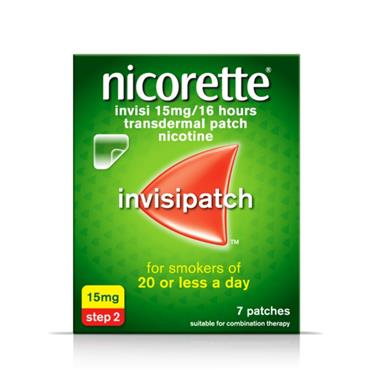 NICORETTE NICORETTE INVISI 15MG/16 HOURS TRANSDERMAL PATCH 7 PATCHES
