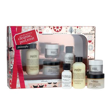 PHILOSOPHY PHILOSOPHY CLEANSE, TREAT AND PEEL GIFT SET