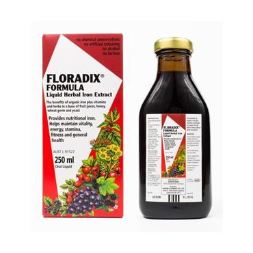 SALUS FLORADIX FLORADIX LIQUID IRON AND VITAMIN FORMULA 250ML