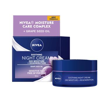 NIVEA NIVEA SOOTHING NIGHT CREAM SENSITIVE SKIN 50ML