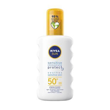 NIVEA NIVEA SUN SENSITIVE IMMEDIATE PROTECT SPF 50+ 200ML