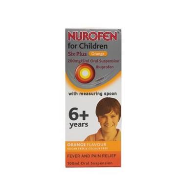 NUROFEN 6+ ORANGE 200MG/5MLSUSPENSION 100ML