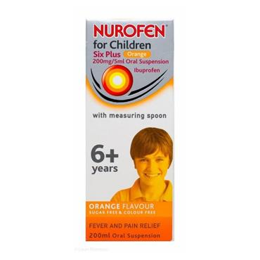 NUROFEN NUROFEN 6+ ORANGE 200MG/5ML SUSPENSION 200ML