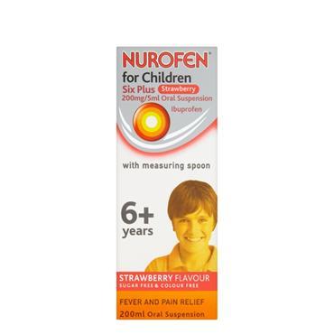 NUROFEN 6+ STRAWBERRY 200MG/5ML SUSPENSION 200ML