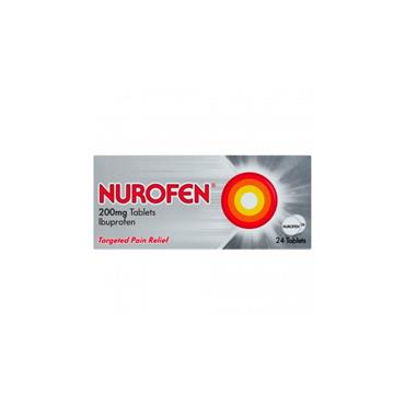 NUROFEN NUROFEN 200MG TABLETS 24S