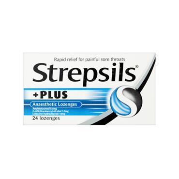 STREPSILS STREPSILS PLUS ANAESTHETIC LOZENGES 24 PACK
