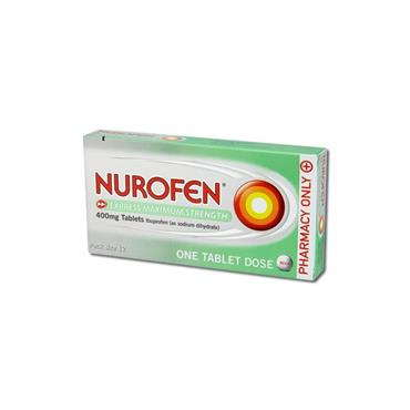 NUROFEN NUROFEN EXPRESS 400MG MAXIMUM STRENGTH TABLETS 12S