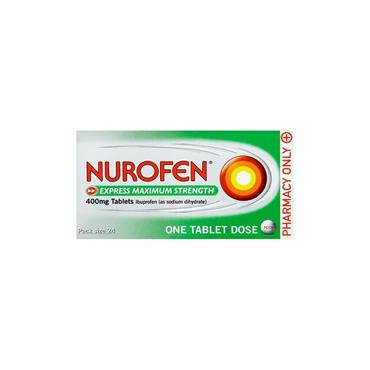 NUROFEN EXPRESS 400MG  MAX STRENGTH TABLETS 24S