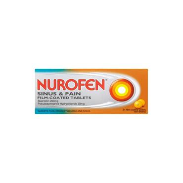 NUROFEN NUROFEN SINUS & PAIN FILM COATED TABLETS 24S
