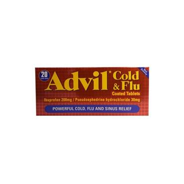 ADVIL COLD & FLU TABLETS 20S