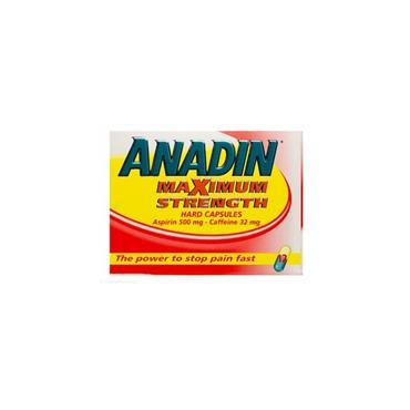ANADIN MAX STRENGTH CAPSULES 12S