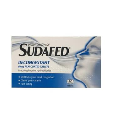 SUDAFED SUDAFED NON-DROWSY DECONGESTANT TABLETS 12S
