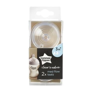TOMMEE TIPPEE TOMMEE TIPPEE CLOSER TO NATURE MED FLOW TESTS 3MTHS X2