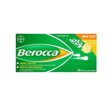 BEROCCA EFFERVESCENT TABS MANGO 30S 771968