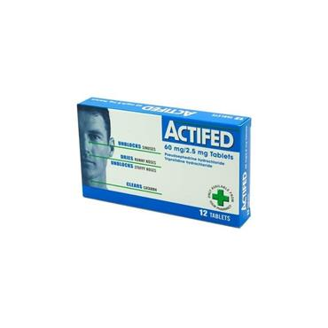 ACTIFED DECONGESTANT TABLETS 12S