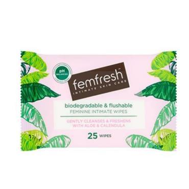 FEMFRESH FEMFRESH BIODEGRADABLE INTIMATE WIPES 25 PACK