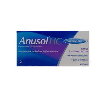 ANUSOL ANUSOL HC SUPPOSITORIES 12 PACK