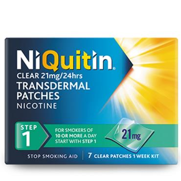 NIQUITIN 21MG/24HOURS TRANSDERMAL PATCHES STEP ONE 14 PATCHES