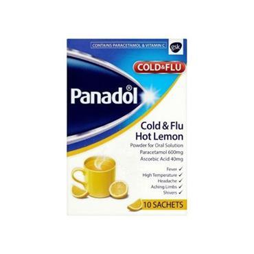 PANADOL PANADOL COLD & FLU HOT LEMON 10 SACHETS