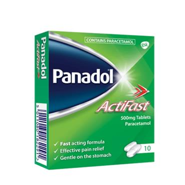 PANADOL ACTIFAST TABLETS 10S