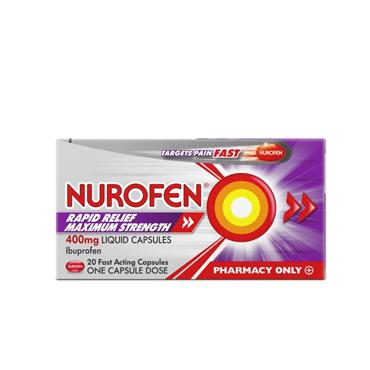 NUROFEN RAPID RELIEF 400MG MAX STRENGTH 20S