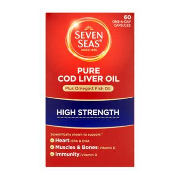 SEVENS SEAS COD LIVER OIL PLUS OMEGA 3 HIGH STRENGTH 60 CAPSULES