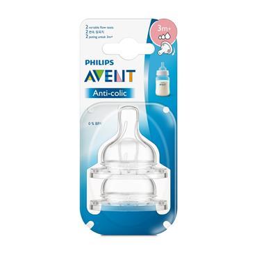AVENT AVENT BPA FREE CLASSIC ANTI COLIC TEAT 3M +