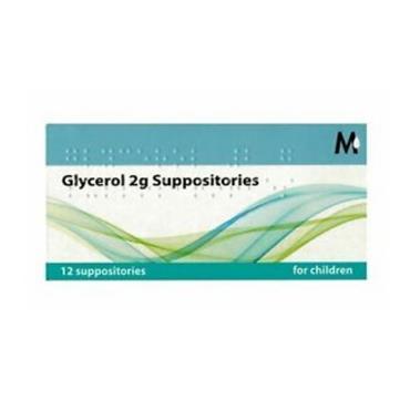 GLYCEROL 2G SUPPOSITORIES X12 FOR CHILDREN
